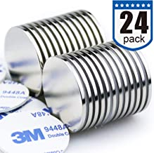 Strong Neodymium Disc Magnets Stronger Than N35 Rare Earth Magnets - 1.26 inch x 0.08 inch, Pack of 24