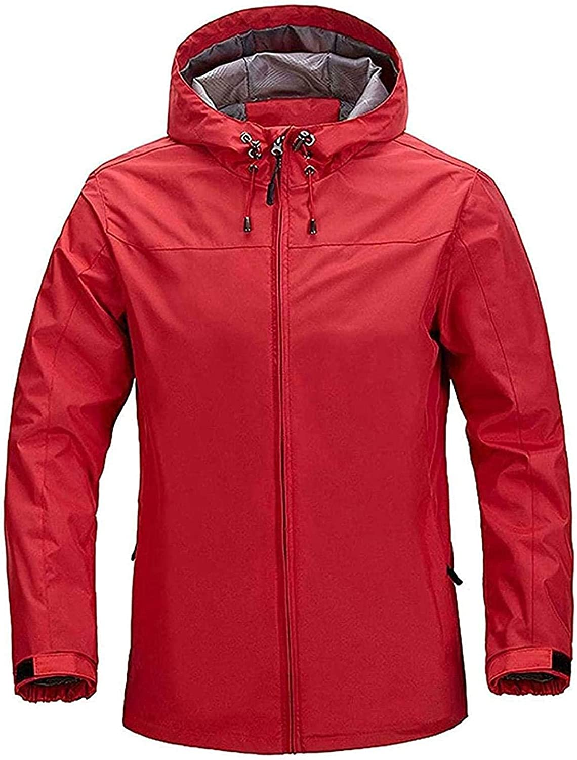 Mens Front-Zip Translated Hooded Waterproof Lightweight Fishing Pocket Suit SEAL limited product