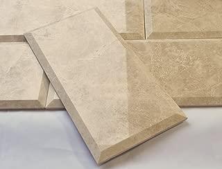 Botticino Marble 6x12 Beveled Polished Subway Tile