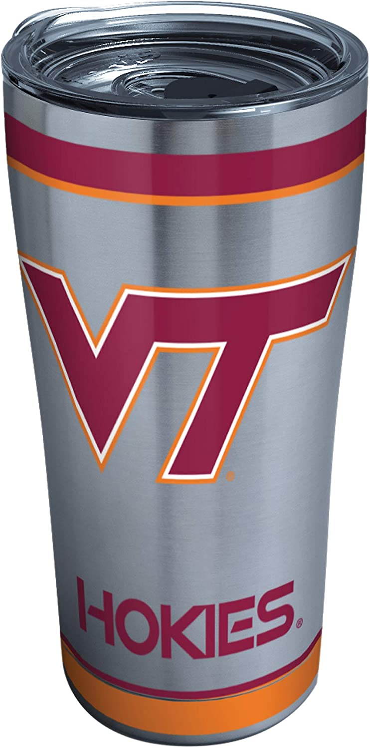 Tervis Triple Walled Virginia Tech University Hokies Insulated Tumbler Cup Keeps Drinks Cold & Hot, 20oz - Stainless Steel, Tradition