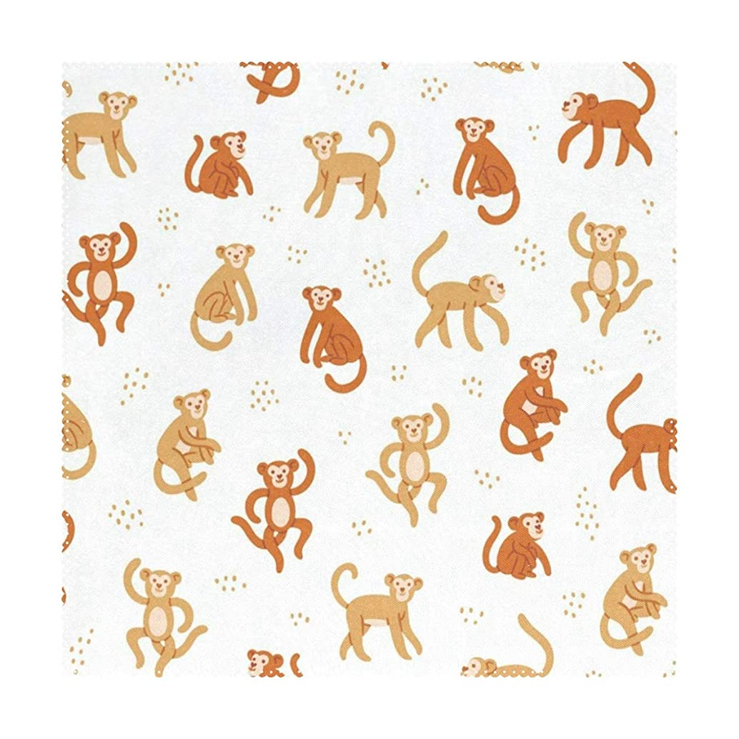 Lovexue Placemats Cartoon Cute Monkey Square Place Mats for Dining Washable Polyester Kitchen Kids Table Coffee Mats 1 Piece