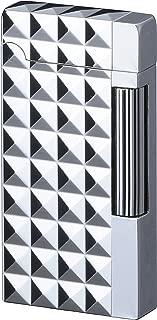 Sarome Flint Cigarette Cigar Lighter SD6A-07 Silver/Diamond head