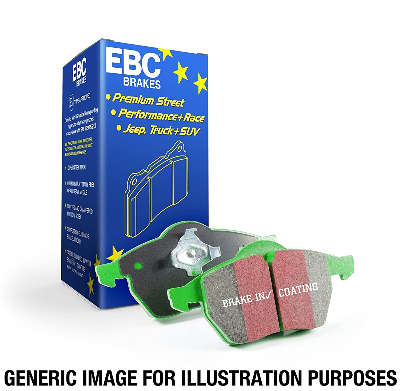 EBC Brakes DP21240 Greenstuff 2000 Series Sport Brake Pad