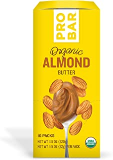PROBAR - Nut Butters, Almond Butter Plus Caffeine, Non-GMO, Gluten-Free, USDA Certified Organic, Healthy, Plant-Based Whole Food Ingredients, Natural Energy (10 Count) Packaging May Vary