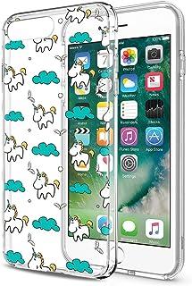68caf282e72 Eouine Funda iPhone 8 Plus, Funda iPhone 7 Plus Cárcasa Silicona 3D  Transparente con Dibujos