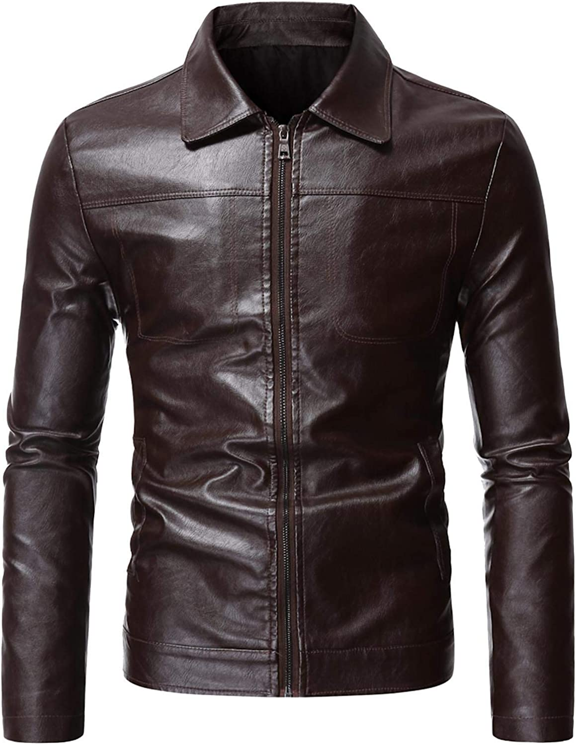 Men's Leather Houston Mall Blazer Jacket Casual Winter Slim Th 67% OFF of fixed price Blouse Fit Top
