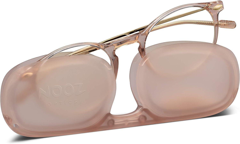Nooz Optics - Gafas contra la luz azul sin corrección Hombre y Mujer para Ordenador, Smartphone, Gaming o Televisión - Forma Redonda - Color Quartz - Colección Cruz