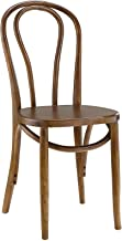 Modway Eon Natural Elm Wood Kitchen and Dining Room Chair in Walnut - Fully Assembled