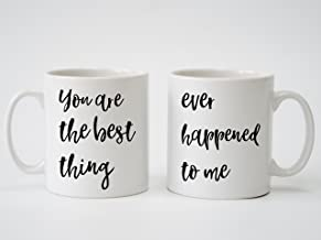 Ray La Montagne You are The Best Thing Song Lyrics Personalised Print - Pair of Mugs for Anniversary, Wedding, Engagment