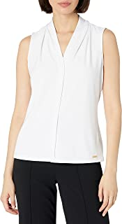 Women's Solid Sleeveless V-Neck Cami (Petite and Standard)
