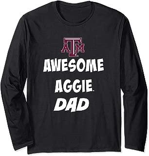 Texas A&M Aggies Texas Aggie Awesome Dad Long Sleeve T-Shirt