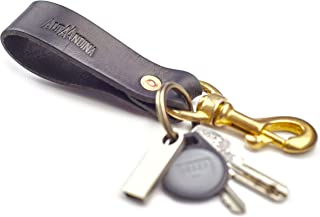 Alta Andina Leather Keychain | Solid Bronze Valet Clip & Brass Keyring | Full Grain, Vegetable Tanned Leather