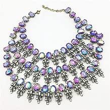 RWATS Jewelry necklace Women Crystal Choker Gem Beads Boho Collier Femme Multilayer Statement Collar Maxi Necklace Fashion Wedding Jewelry