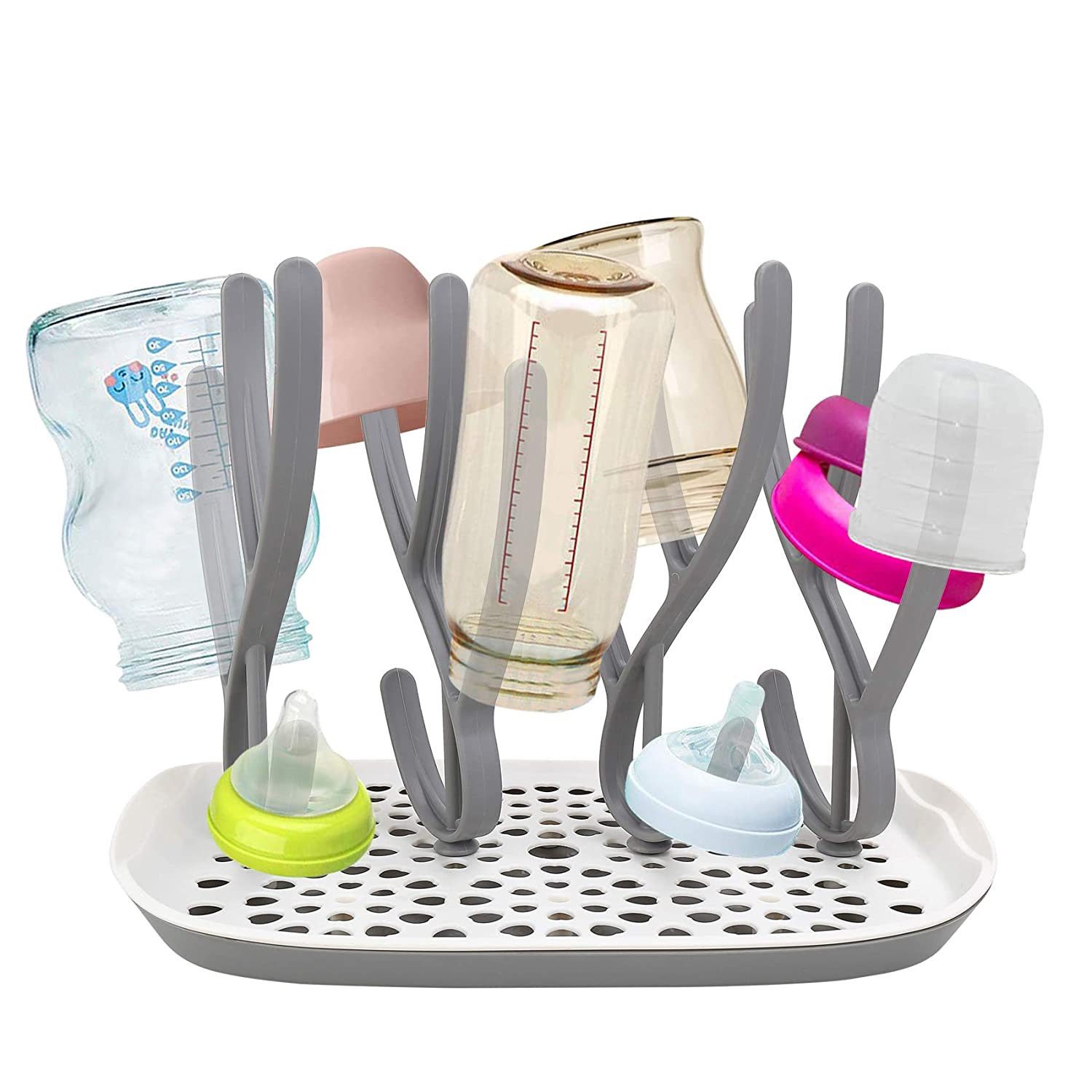 Bottle Drying It is very popular Rack with Tray Baby Holder Cap Max 47% OFF Dryer High Bottles
