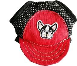 QSEVEN Sombrero de Perros Sombreros de Fiesta Sombrero de Béisbol Capva con Orejas para Puppies Chihuahua Poodles Beagles/Boston Yorshire Terrier/Shih Tzu/French Bulldog/Miniature Schnauzer/Pug,
