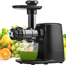Juicer Machines, Vestaware Masticating Juicer Extractor with 5 Adjustable Modes/Reverse Function/Quiet Motion, Easy to Clean Slow Juicer for Fruits and Vegetables