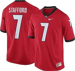 Nike Men's Matthew Stafford Georgia Bulldogs #7 Red Replica College Alumni Jersey