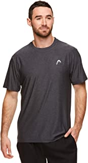 HEAD Men's Ultra Hypertek Crewneck Gym Training & Workout T-Shirt - Short Sleeve Activewear Top - Black - Medium