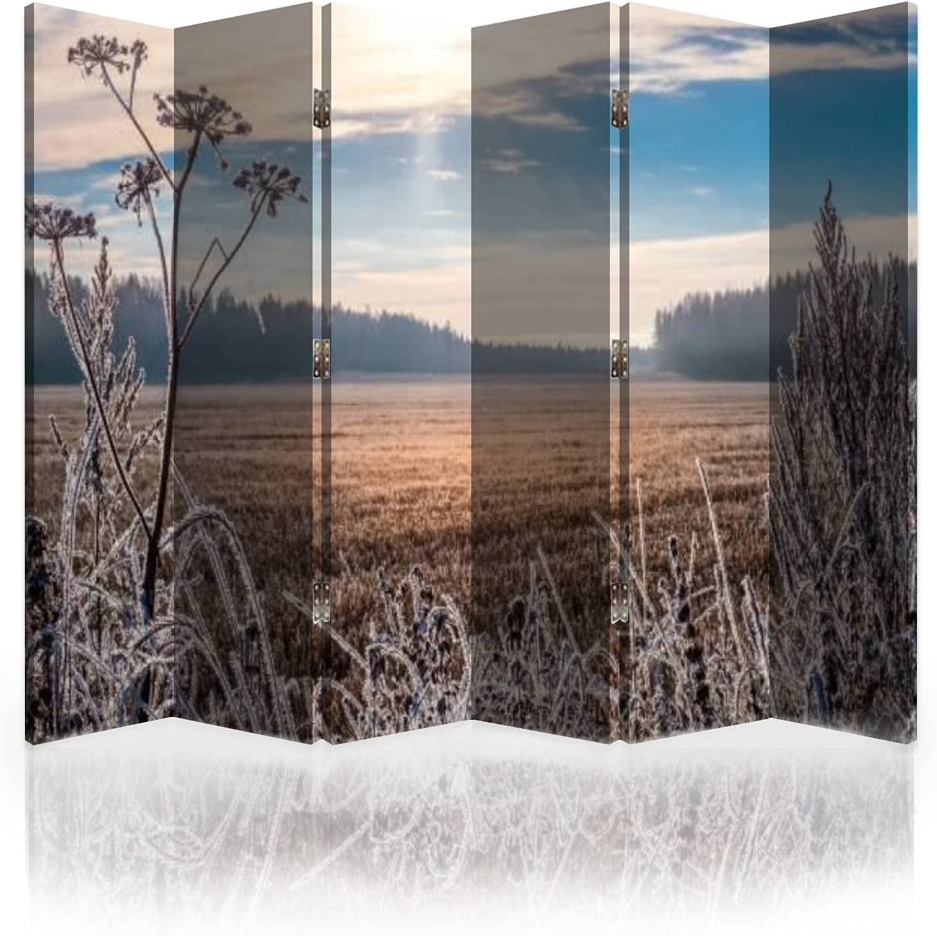Canvas Room Divider Screen 100% quality warranty! Scenic 2021 Landscape and Bright with Sunr