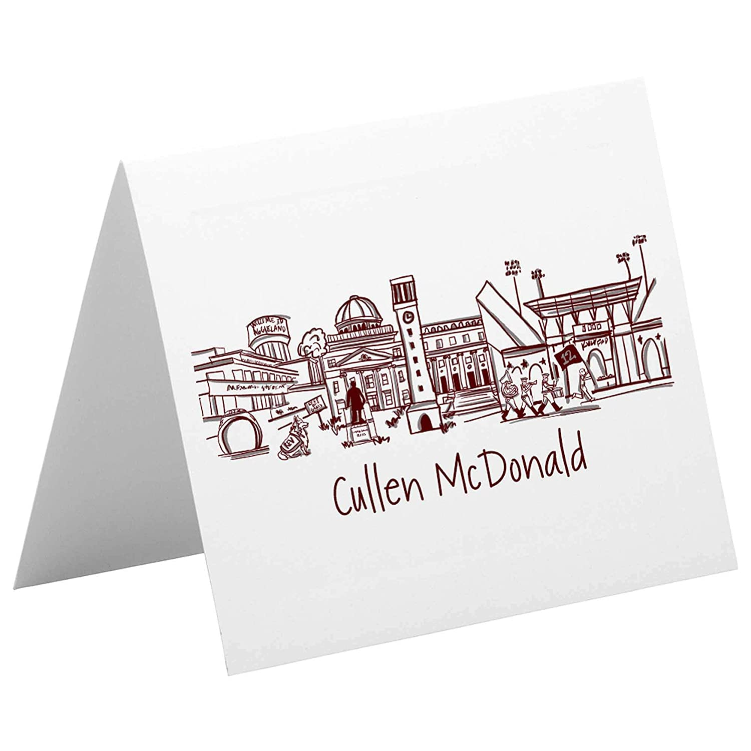 Personalized Notecard Challenge the lowest price Stationery Set {Texas AM Manufacturer direct delivery Campu University