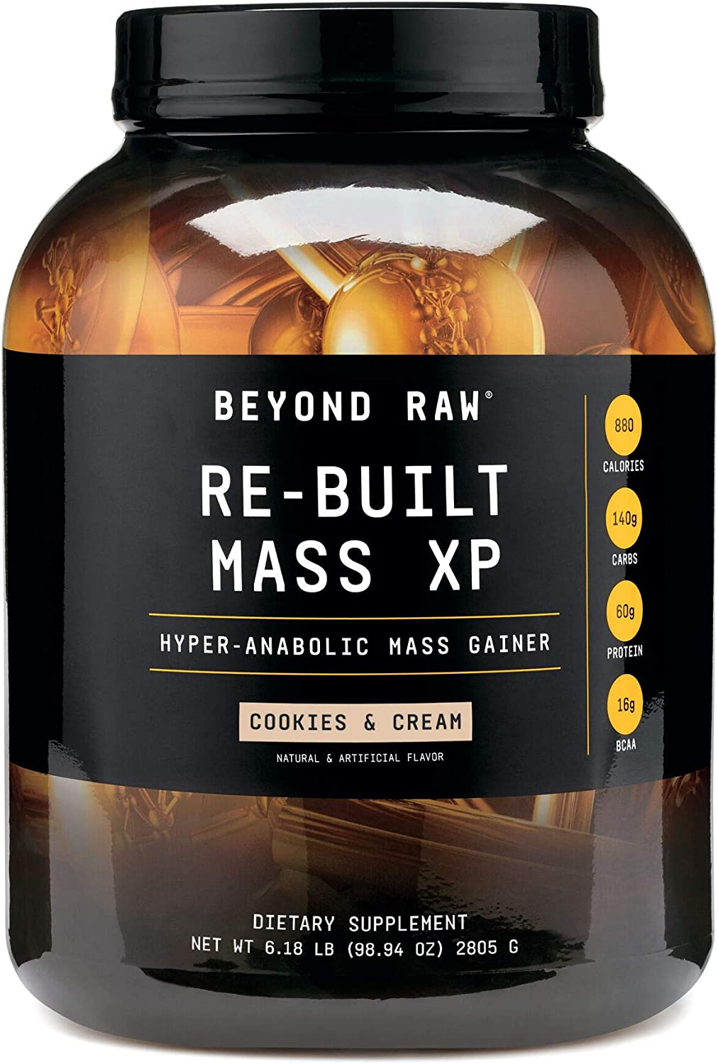 BEYOND RAW Re-Built Mass Hyper-Anabolic Max 90% OFF Gainer shopping Contai XP