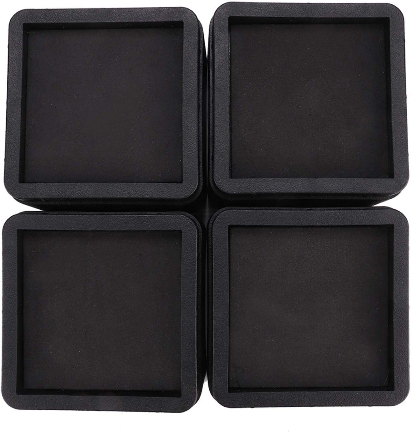 4PCS Durable Stackable Attention brand Max 49% OFF Bed Legs Square Rubber Caster Furniture