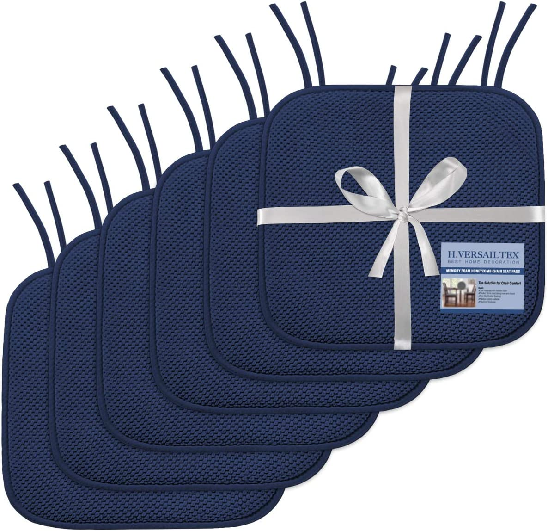 H.VERSAILTEX Premium Chair Cushions Memory Pac Max 83% OFF 6 Pads Foam Weekly update