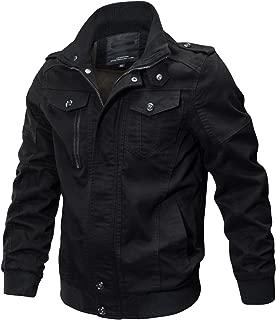 Men's Casual Winter Cotton Military Jackets Outdoor Coat Windproof Windbreaker