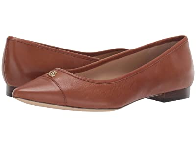 LAUREN Ralph Lauren Halena (Deep Saddle Tan Super Soft Leather) Women