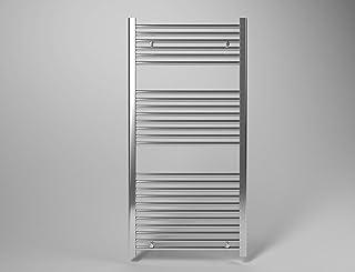 Radiador termodecoración toallero cromado 80 x 60 distancia entre ejes 55