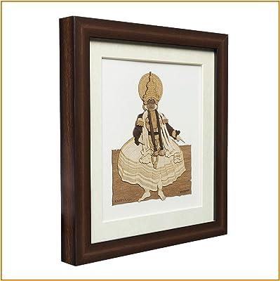 The Bombay Store - Kathakali Natural Wood Frame - 3 cm x 23 cm x 25.5 cm