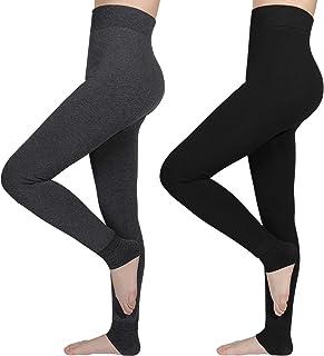 AIMTOP 2 Pack Leggins Termicos Mujer, Leggins Mujer Invierno Terciopelo Elástico Leggings Mujer Invierno, Mallas Termicas ...