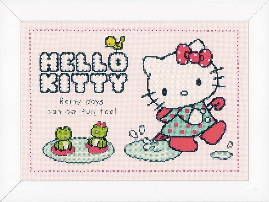 Vervaco PN-0151913 14 Count Hello Kitty Rainy Days on Aida Counted Cross Stitch Kit, 13.6