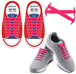 HOMAR No Tie Shoelaces for Kids and Adults - Best in Sports Fan Shoelaces - Waterproof
