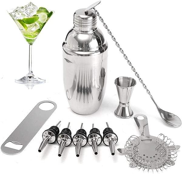 11Pcs 500ML Stainless Steel Cocktail Jigger Mixer Bar Drink Shaker Bartender Set Restaurant Supplies