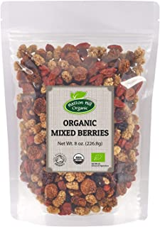 Organic Mixed Berries (Golden Berries, Mulberries, Cranberries, Goji Berries) 8oz. by Hatton Hill Organic