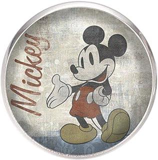 Spilla con perno in acciaio inossidabile, diametro 25 mm, spillo 0,7 mm, Fatto a Mano, Illustrazione Mickey Mouse Vintage
