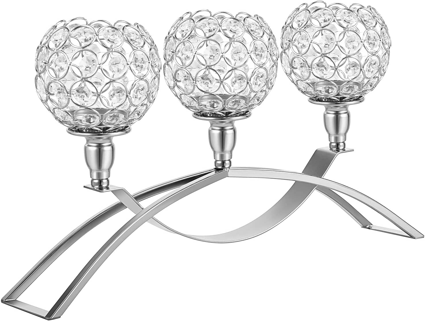 Denique Online limited product Crystal Candle Holders Candelabras Arms New sales 3
