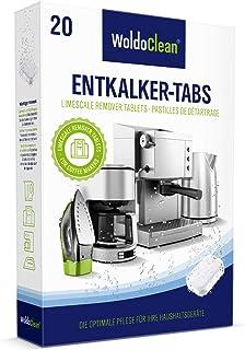 Pastillas descalcificadoras 20x 16g para máquinas de café - totalmente automáticas compatibles con todas las máquinas de café