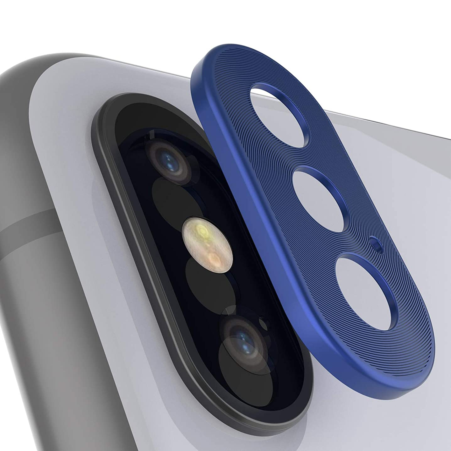 Punkcase Camera Protector Ring | Premium Aluminum Alloy Back Lens Cover Guard [Ultra Slim] Compatible W/Apple iPhone Xs Max (Blue)