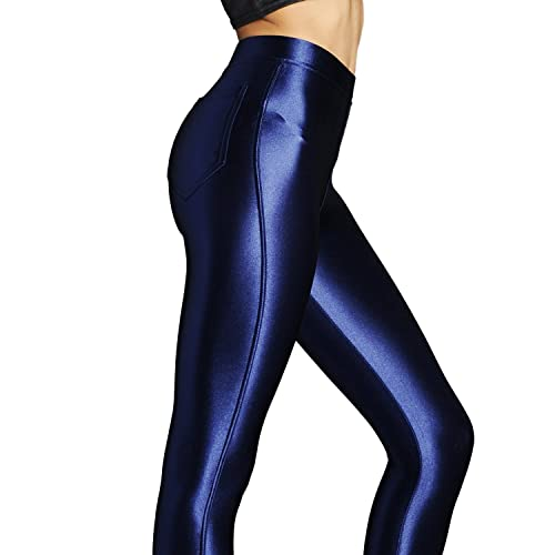 ee42a33fbf6a40 NEW American Style Apparel Shiny High Waisted Stretchy Disco Pants Leggings