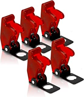 MGI SpeedWare Toggle Switch Safety Flip Covers 5 Pack (Red)