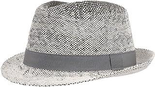 Lipodo Cappello di Paglia Topsey Twotone Donna/Uomo - Made in Italy da Sole Cappelli Spiaggia con Nastro Grosgrain Primave...