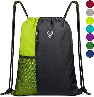 drawstring bag with inside pocket