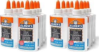 Elmer's Clear School Glue, 5 Ounces (16-Pack) E305 (16) (2)