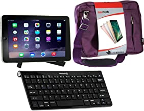 Navitech Converter Pack Including Multi OS Wireless Bluetooth Keyboard/Purple Case Bag & Portable Stand Compatible with The Linx 7 Tablet | Linx 1010 | Linx 1020 | Linx EM-I8270 7 inch Tablet