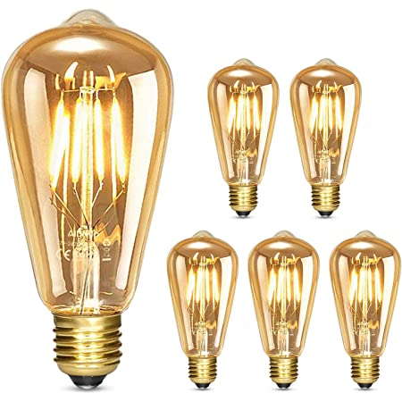 1 St/ück- Edison Vintage Gl/ühbirne Kucosy Retro Gl/ühlampe ST64 LED Lampe Gl/ühbirne Warmwei/ß E27 4W Nostalgie Gl/ühlampe Dekorativ Lampe Ideal f/ür Nostalgie Dekorative Beleuchtung im Haus Caf/é Bar usw