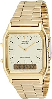 Casio Men's Gold Dial Stainless Steel Analog-Digital Watch - AQ-230GA-9DMQ