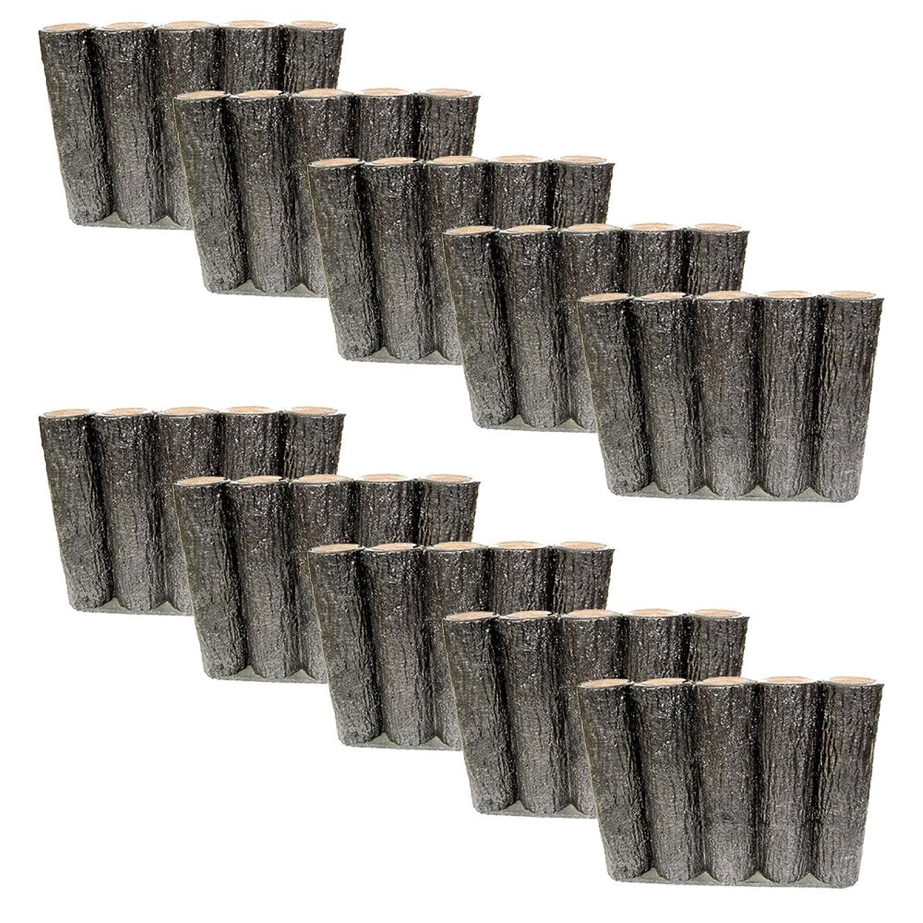 弱まるバーマドドラゴンサンポリ 樹脂製擬木はなえ80φ 5連平行杭タイプ H300 (10本セット)