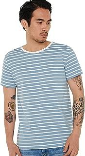 Striped T Shirt for Men Sailor Tee Breton Stripes Top Basic Pattern Cotton